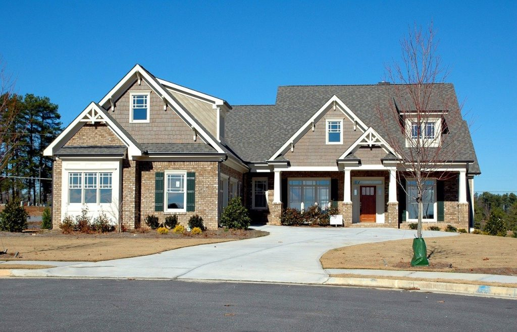 driveway, suburb, house