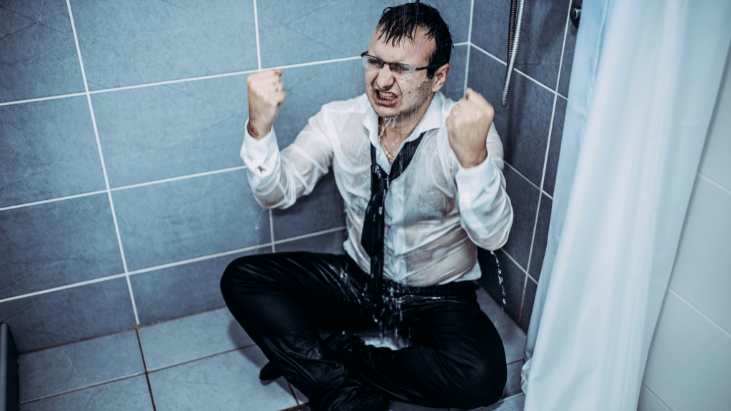 Angry in the shower